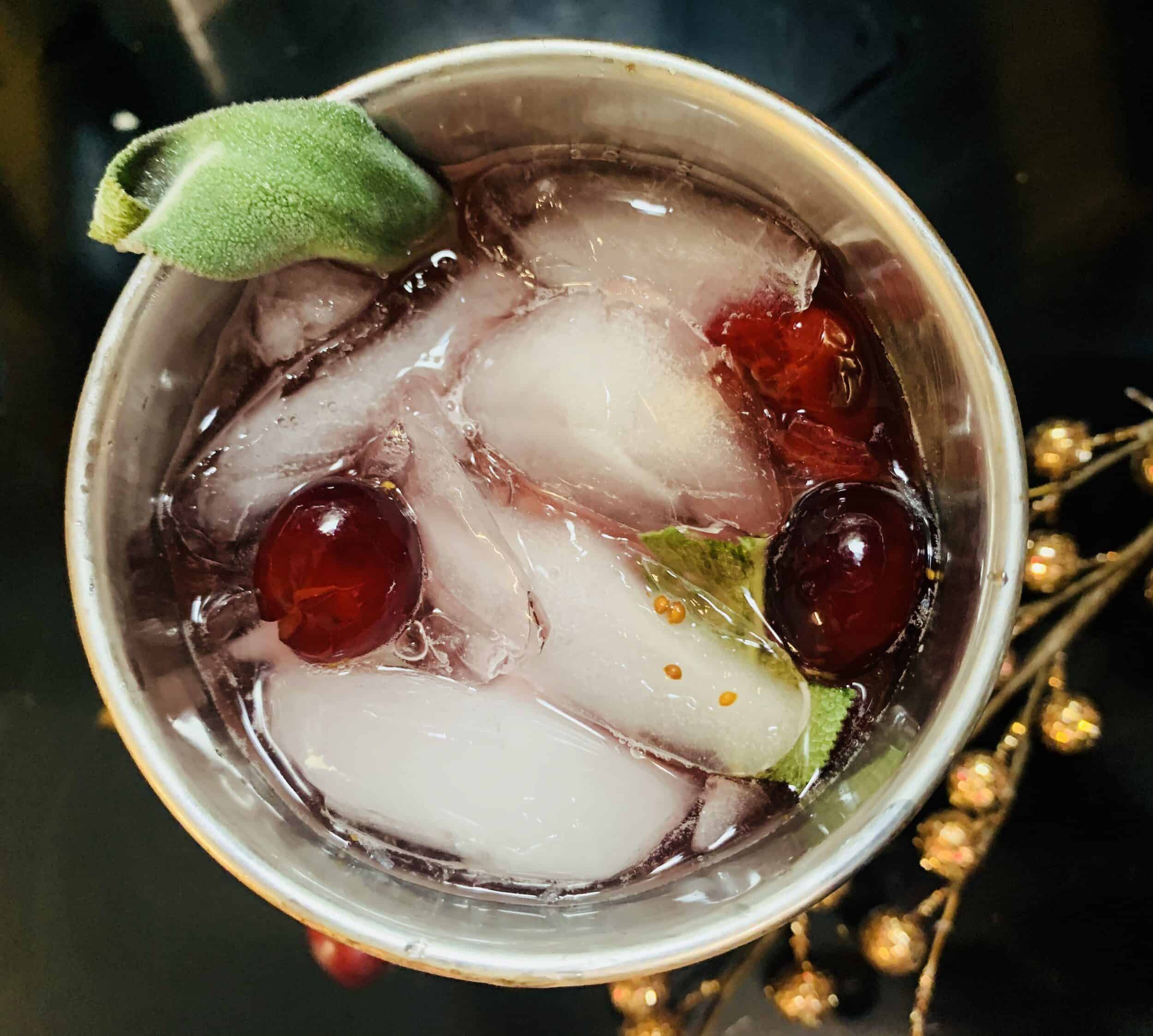 Cranberry and Sage Gin Cocktail