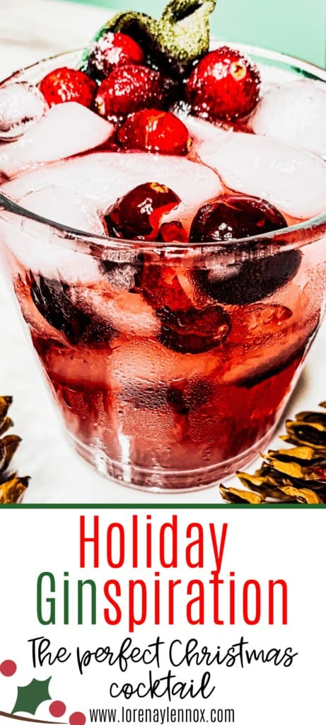 In this post, you can find a delicious recipe a cranberry and sage gin cocktail that is perfect for the holiday season or any event.