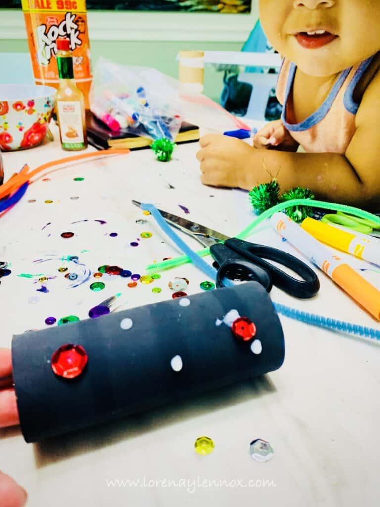 Spidernoculars Halloween Toddler Craft