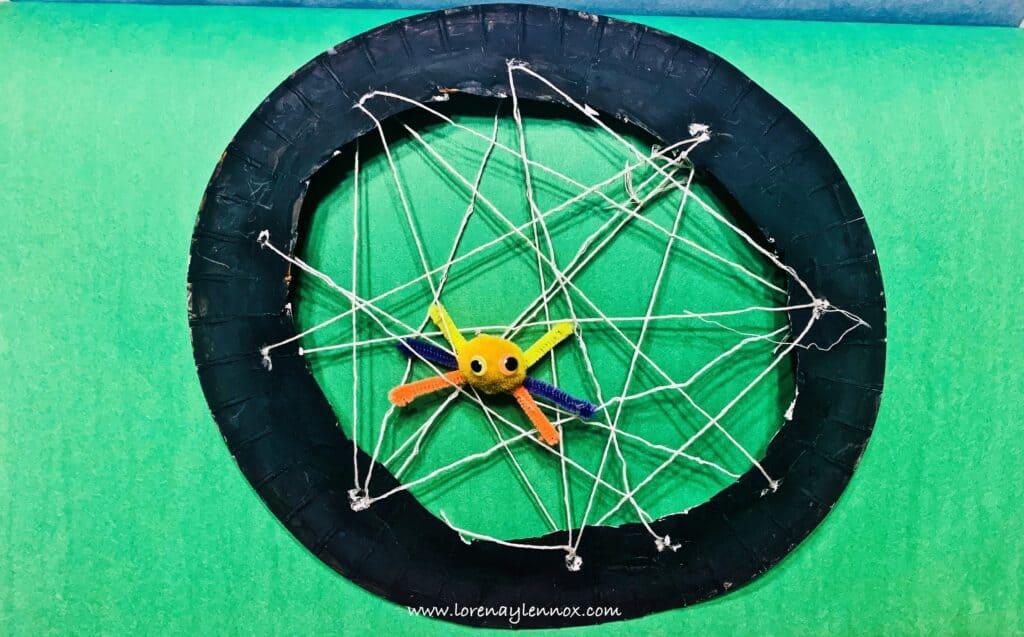 Simple Spider Halloween Craft
