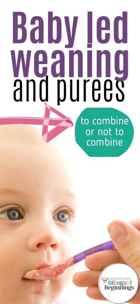 This post is about purees and baby led weaning. Whether you should you do purees or baby led weaning, and information about combining them.