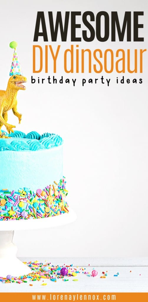 In this post you can find a variety of do it yourself dinosaur birthday party ideas that are great for young children!