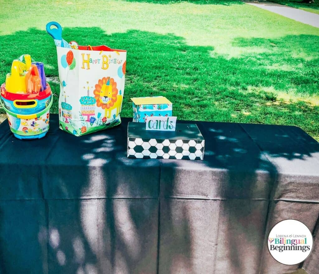 Ideas for a Soccer-Themed Birthday Party for Your One-Year-Old Boy Card Box #Firstbirthdayparty #firstbirthdaypartythemes #birthdaypartyideasforboys #soccerbirthdayparty #soccerbirthdaypartyideas #soccerbirthdaypartydecorations
