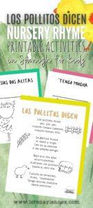 """Los pollitos dicen"" printable pdf activities in Spanish"