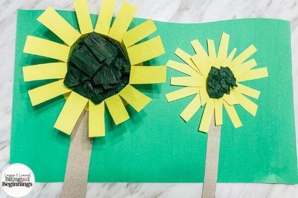 Fall Activities for Toddlers- Sunflower Crafts