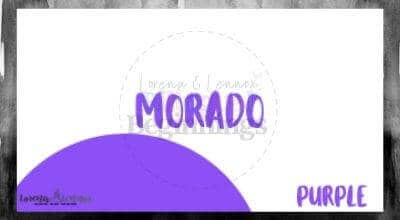 Halloween Printables in Spanish- Halloween Vocabulary Flashcards- El murciélago- morado