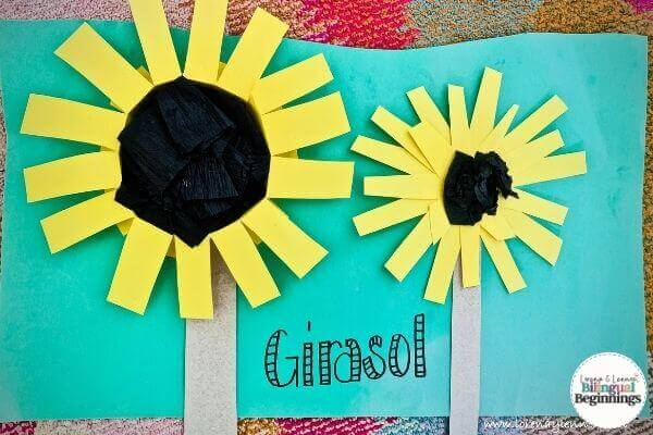 Fall Sensory Activities for Toddlers- Sunflower Craft