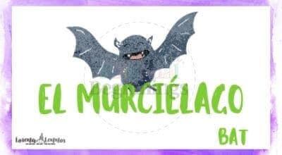 Halloween Printables in Spanish- Halloween Vocabulary Flashcards- El murciélago