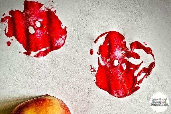 Fall Activities for Toddlers- Apple Stamping