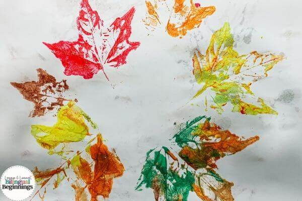 Fall Activities for Toddlers- Leaf Painting