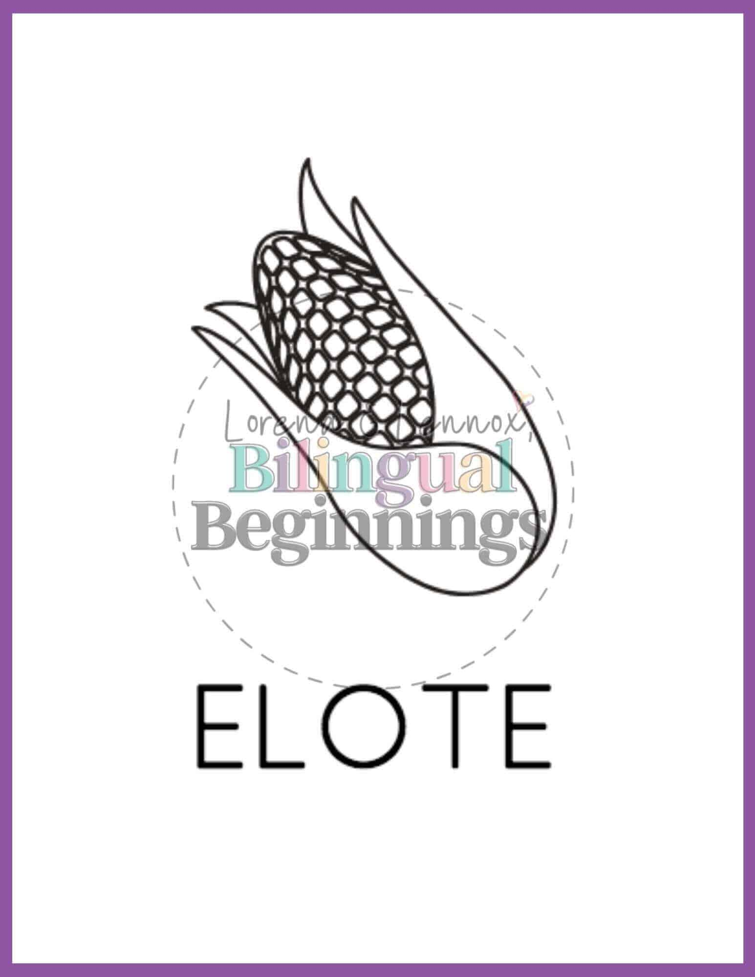 Fall printables in Spanish- coloring pages- elote