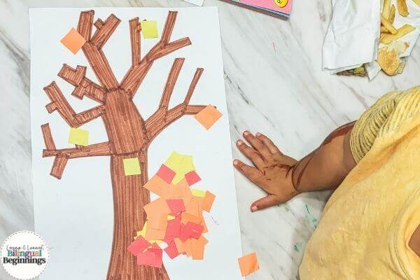 Fall Activities for Toddlers- Pin the Leaves