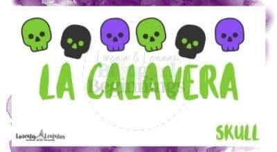 Halloween Printables in Spanish- Halloween Vocabulary Flashcards- La calavera