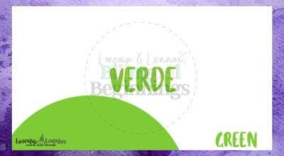 Halloween Printables in Spanish- Halloween Vocabulary Flashcards- verde