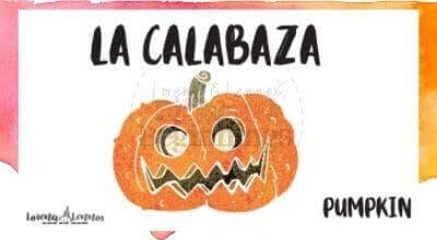 Halloween Printables in Spanish- Halloween Vocabulary Flashcards-la calabaza