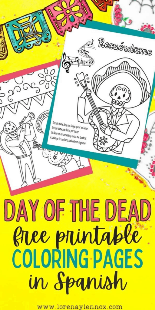 Day of the Dead Printables in Spanish