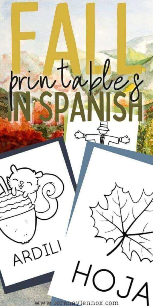 Fall printables in Spanish